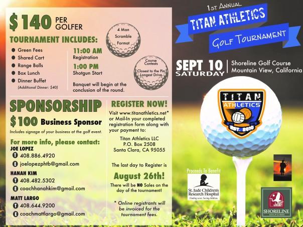 2016 Titan Golf Tournament Flyer