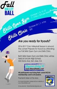 2016 Titan Girls VB Skills Open Gym and Clinics